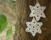Crochet Snowflake Earring PDF Pattern