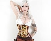 Hard Leather Clockwork Corset - LIMITED EDITION - BruteForceStudios