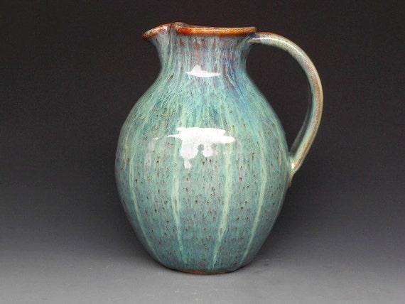 Flower Vase Pitcher Ocean Green B