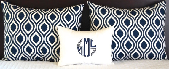 Navy Blue Decorative Bed Pillows: Bedding Ensemble Pillow Shams Navy Blue For By