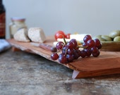 Charcuterie Tray Cutting Board Rustic Cherry Banquet Table Footed Platte
