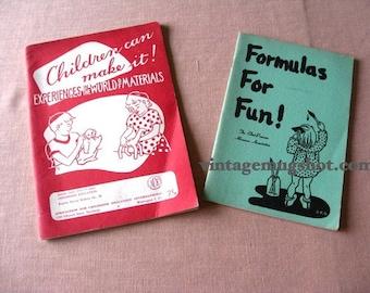Back to  School Fifties Vintage Books Crafts Teacher  Art Puppets Classroom