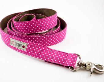 Hot Pink Polka Dot Dog Leash