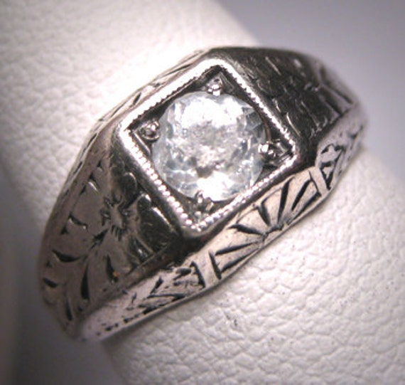 antique white sapphire wedding ring vintage edwardian