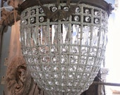 Beautiful French Crystal Pendant Chandelier