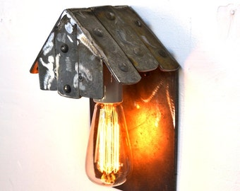 """LOFT V24 - """"Tetto"""" - Wine Barrel Ring Wall Sconce - 100% Recycled"""