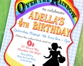 Wizard of Oz Inspired Invitation - Over the Rainbow Collection - Gwynn Wasson Designs PRINTABLES