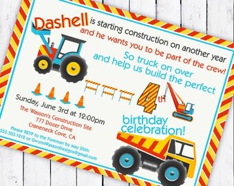 CONSTRUCTION Party Invitation - Build the Perfect Birthday Collection - as seen on HWTM - Gwynn Wasson Designs PRINTABLES