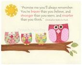 Owl Decor - Baby Girl Pin...
