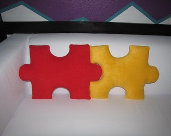 Puzzle Piece Pillows - Pick 2 and Save - Personalized - Custom - Geek Chic Home Decor
