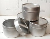 1 round seamless tin with solid lids, 100ml storage box, small organizer