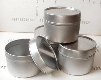 1 round seamless tin with solid lids, 100ml storage box, small organizer