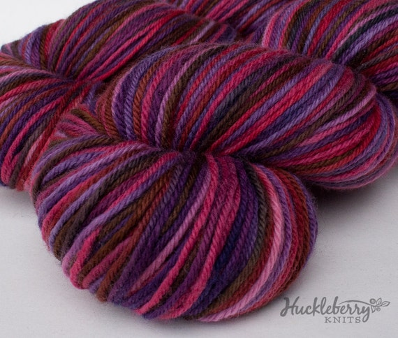 Organic merino light worsted yarn: RASPBERRY PARFAIT, 4 oz