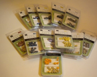 Lot of 12 Round Scrapbook Tacks by Chatterbox (Over 52 Dollar Retail)