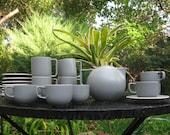 Sasaki Colorstone Matte Grey (Only Tea Pot and Mugs Left)