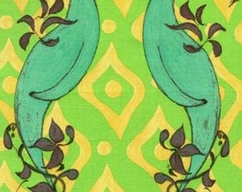 Sale - Tina Givens Fabric - Friendship in Green - 1 Yard