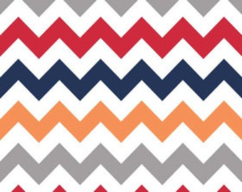 Riley Blake Fabric - Half Yard of Medium Chevron in Boy