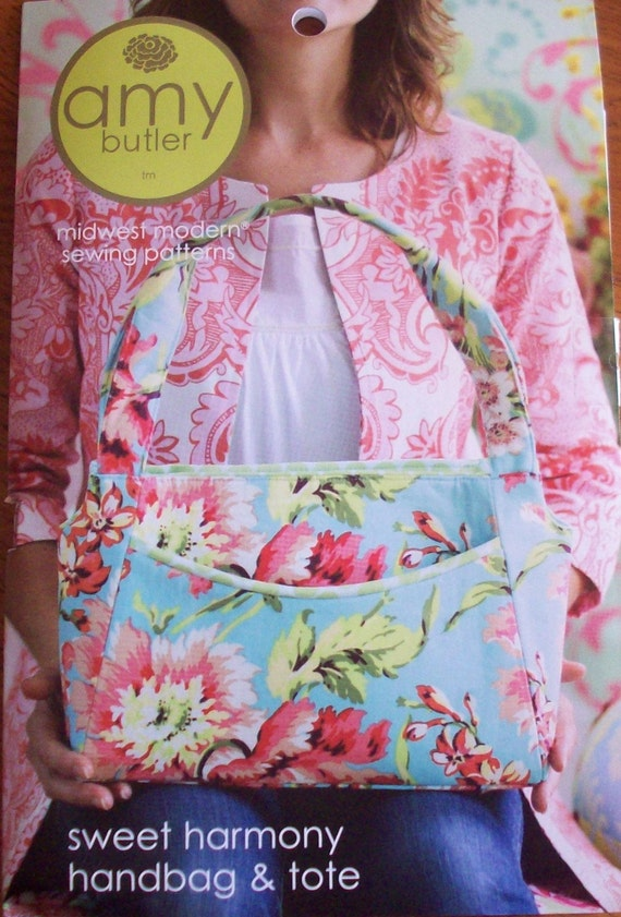 Amy Butler Sewing Pattern Sweet Harmony Handbag and Tote with Free US Shipping