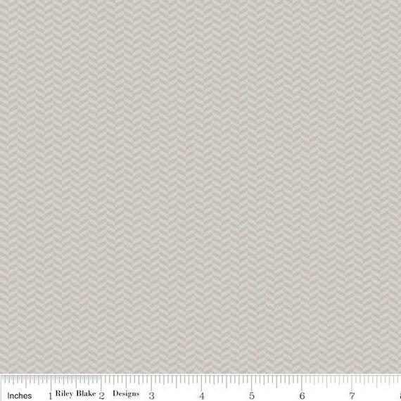 Riley Blake Fabric - 1 Yard of Willow Gray Herringbone