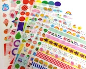 Yummy Friends planner adhesive Stickers - 12 sheets set SS542
