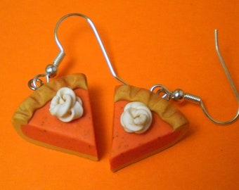 Pumpkin Pie Earrings (Post or Dangle)