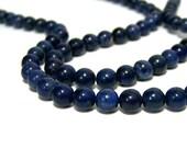 Blue Dumortierite Beads, 6mm round natural gemstone bead, Full & Half  strands  (577S)