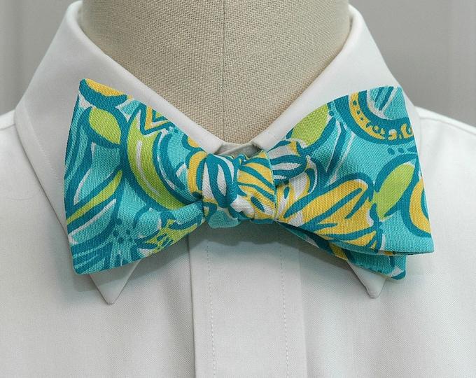 Tri Delt Bow Tie, lilly sorority print, sorority sweetheart bow tie, licensed sorority Tri Delt print, Tri Delt formals bow tie, self-tie