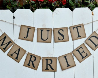 Just Married Banner  ..  Photo  ..  Wedding   ..  Decoration  ..  Car decoration