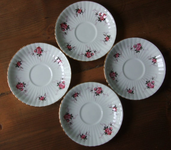 Princess House Hammersley Bone China Saucer Set of 4