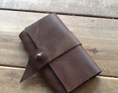 Teterboro passport case, handmade leather case, brown passport holder, handmade leather passport cases, covers, holders and wallets by Aixa