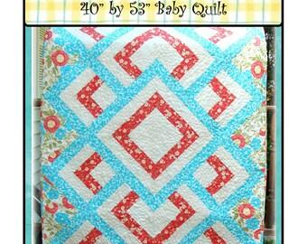 PDF  Baby Quilt Pattern Itsy Bitsy Spider Carlene Westberg Designs
