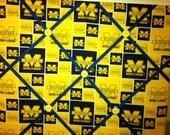 University of Michigan Fabric Photo Memory Board