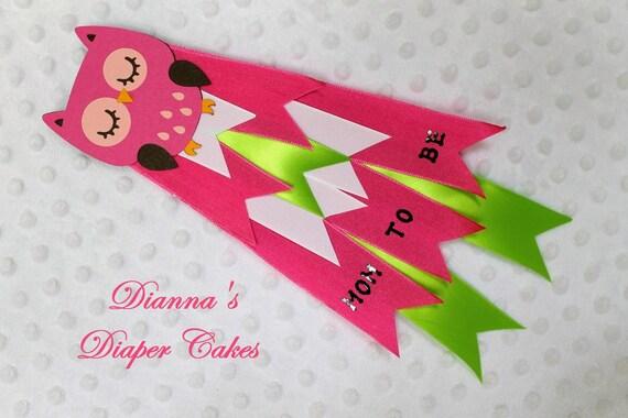 Pink Owl Baby Shower Mom to be Mum Custom Order for Esplendida2