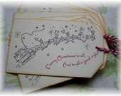 Twas the night before Christmas - And to All a Good Night - Santa n Sleigh Tags (6)