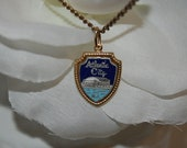 Atlantic City Old Convention Hall Pendant Chain Necklace 24 Inches Good Luck Souvenir from NJ Shore