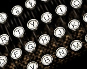 Vintage Underwood Typewriter Keys Photographic Art Print, Wall Art for Home decor, 12 Sizes Available from Prints to Mounted Canvas