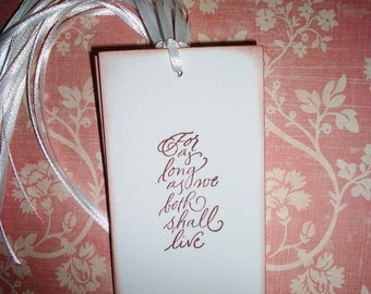 Wedding Tags  -For As Long As We Both Shall Live  - Wish Tree Tags - Wish Cards -  Set of Ten