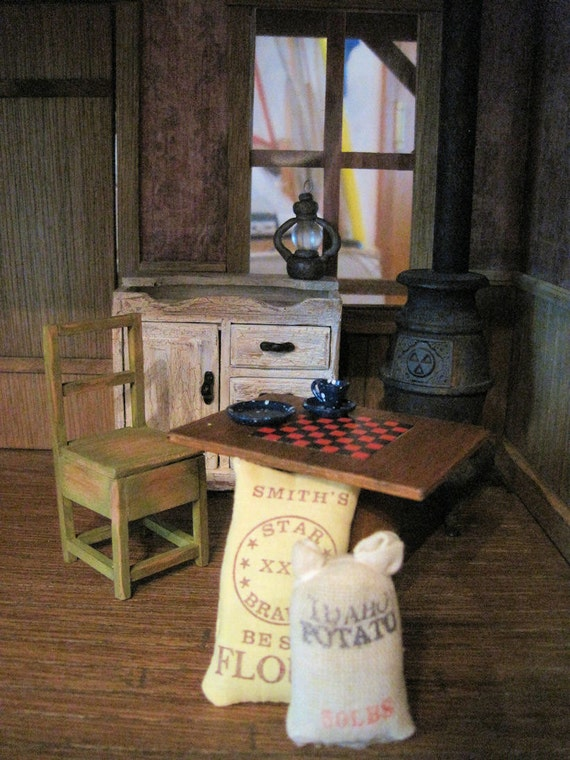 Miniature Dollhouse Furniture Rustic Cabin Kitchen Old Fashioned Goes With Bodie Cabin