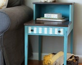 Two tiered painted end table