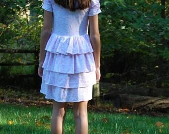 Girls Knit Bustle Back Dress