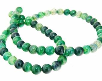 Charm Green Dragon Agate Round 6mm Gemstone Beads One strand