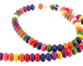 "Full pure HeiShi Rainbow Turquoise Gemstone Beads 8mm One Strand 15.5"""