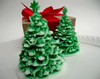 Christmas Tree Soap - christmas gift, stocking stuffer