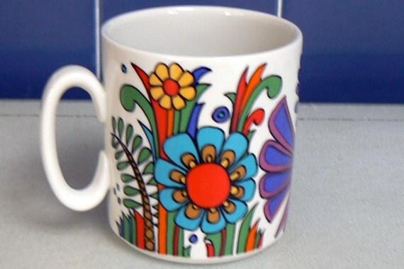 villeroy boch acapulco porcelain mug by edimae on etsy. Black Bedroom Furniture Sets. Home Design Ideas