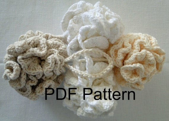 PDF PATTERN for Cotton Crochet Thick and Thirsty Bath Puff