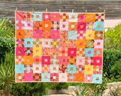 Meet the Squirrels - A Colourful Baby Quilt - ready to ship