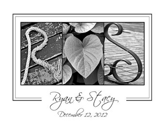 Alphabet Letters Photography -  Personalized Initials Print  - LOVE - 8x10