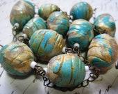 SALE -  Beach Boho Handcrafted Bead Necklace