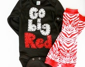 Go Big Red, shirt, oneise, baby leg set