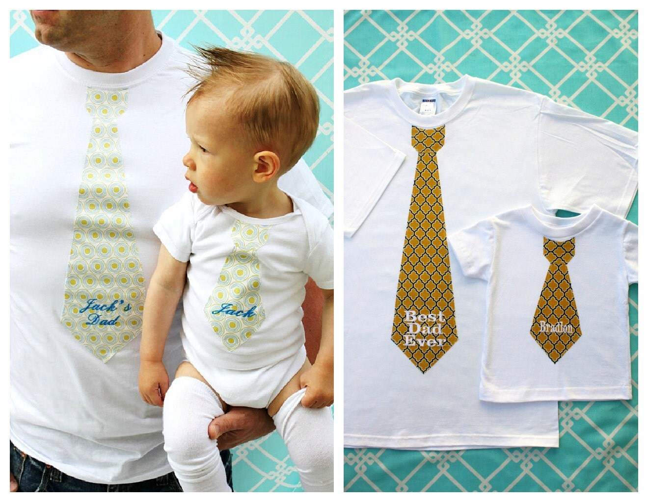 Holiday Personalized Gift Baby Boy New Dad 2 Piece